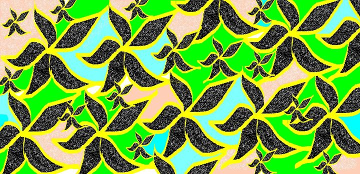 black flower art - Arunadeepa Lelwala