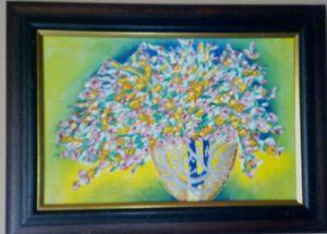 Flower decoration in Arabian vase