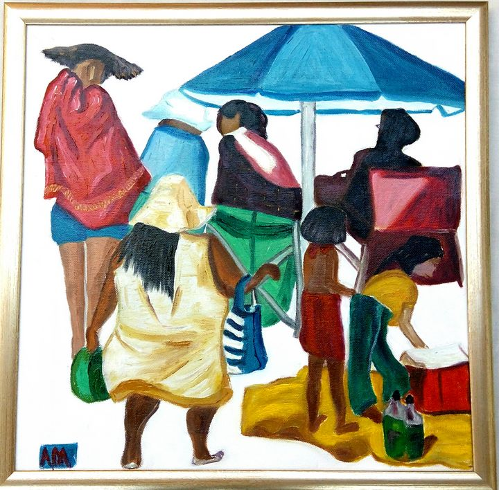 Picnickers Sea Point pavilion - A.M.Gallery