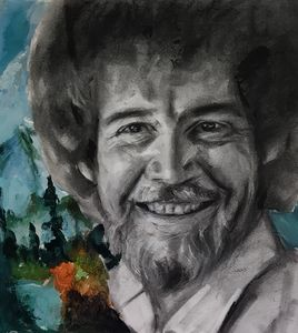 Bob Ross Drawing
