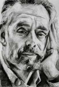 Jordan Peterson charcoal portrait