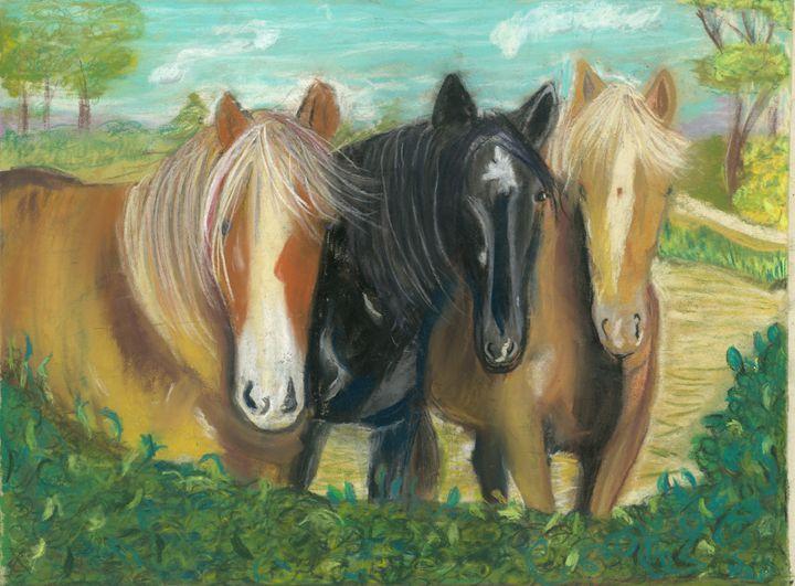 3 Amigos - Crys Cameron fine Art