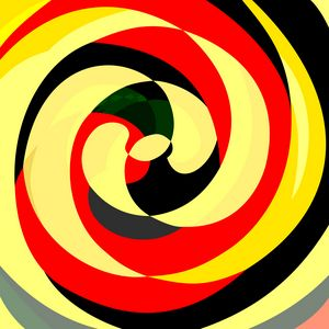Abstract Spirals Yellow and red