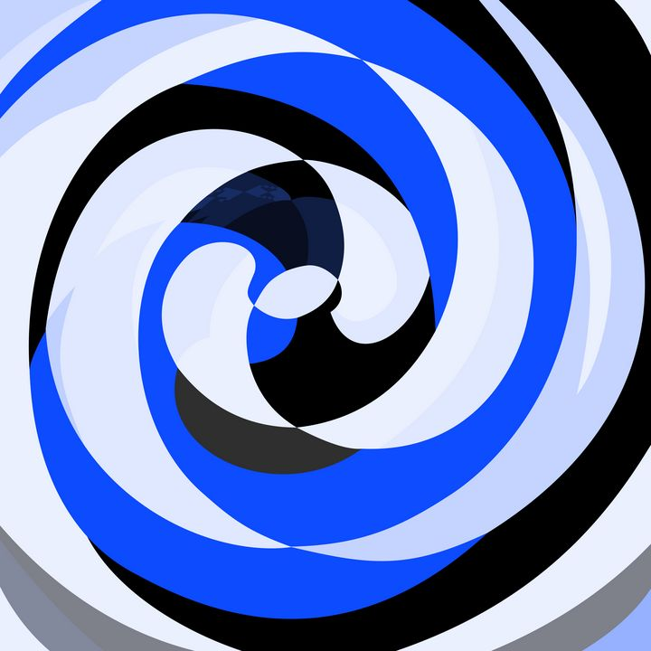 Abstract Spirals Blue - Keith Hix