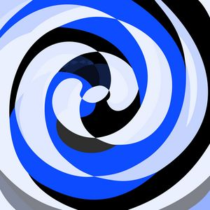 Abstract Spirals Blue