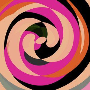 Abstract Spirals Purple