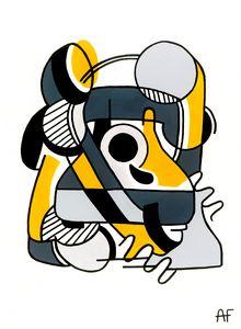 Yellow Telephone - AFDesigns