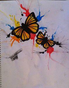 Butterfly Splatter