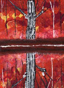Happy Reflections - Burning Redwood
