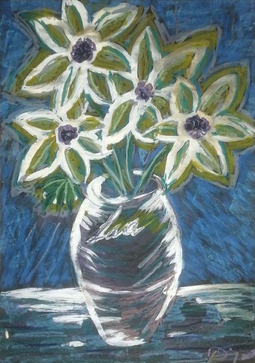 Golden Sunflowers - Original Art by Lara D