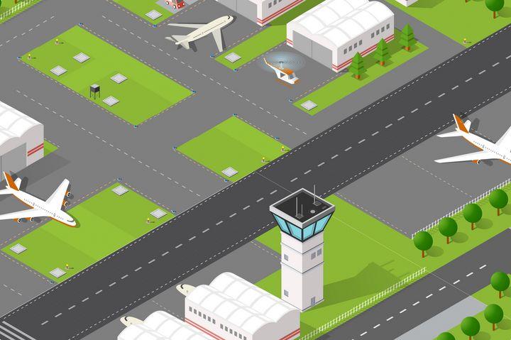 Isometric airport runway - alexzel