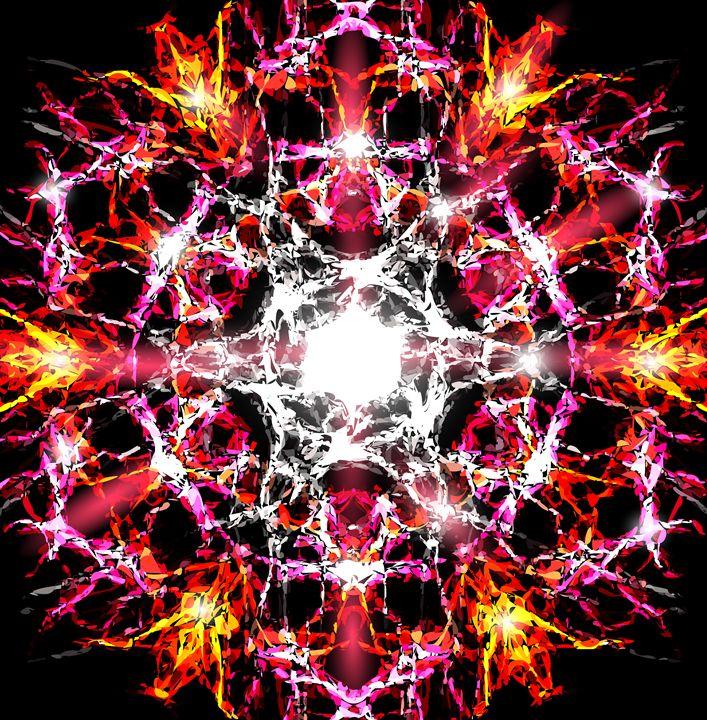 Abstract pattern in pink - alexzel