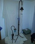 Mason jar steel floor lamp