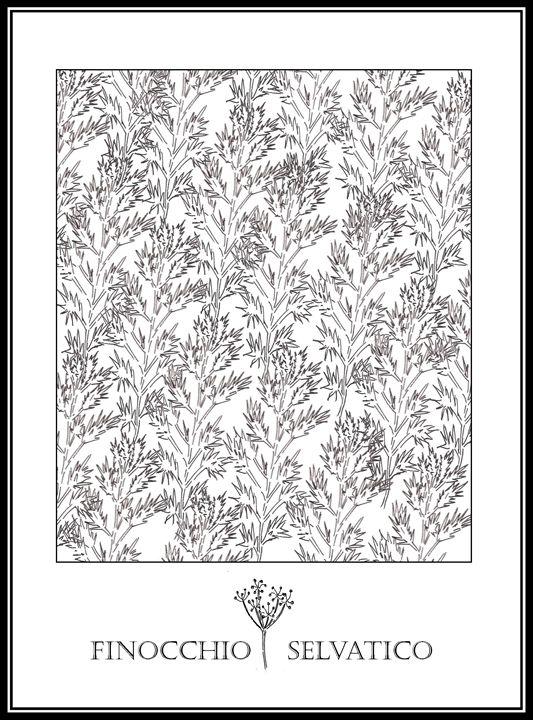 Finocchio Selvatico - Wild Fennel - The Italian Print Company