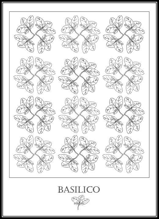 Basilico - Basil - The Italian Print Company