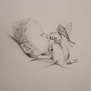 Butterfly Kisses by Katie Fricker - Motherly Love Prints