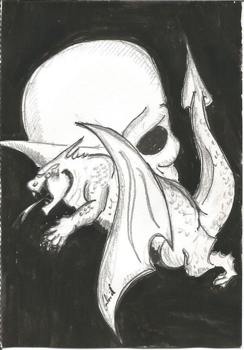 skull and dragon - Gabriel Coelho