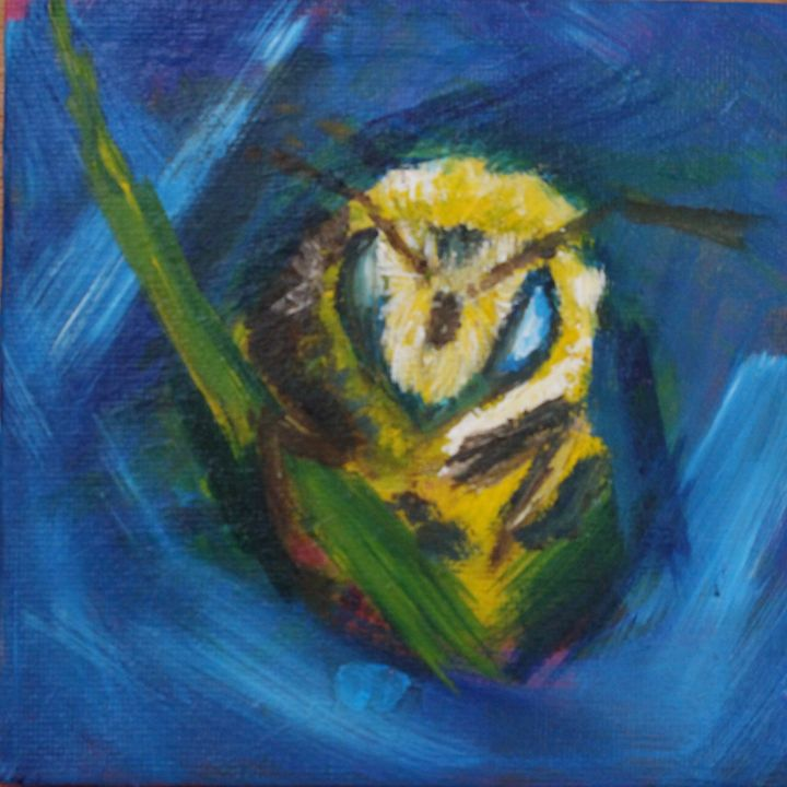 Whats the buzz?| Acrylic Painting of - NATURE OF REALITY BY SHARON BUSHY