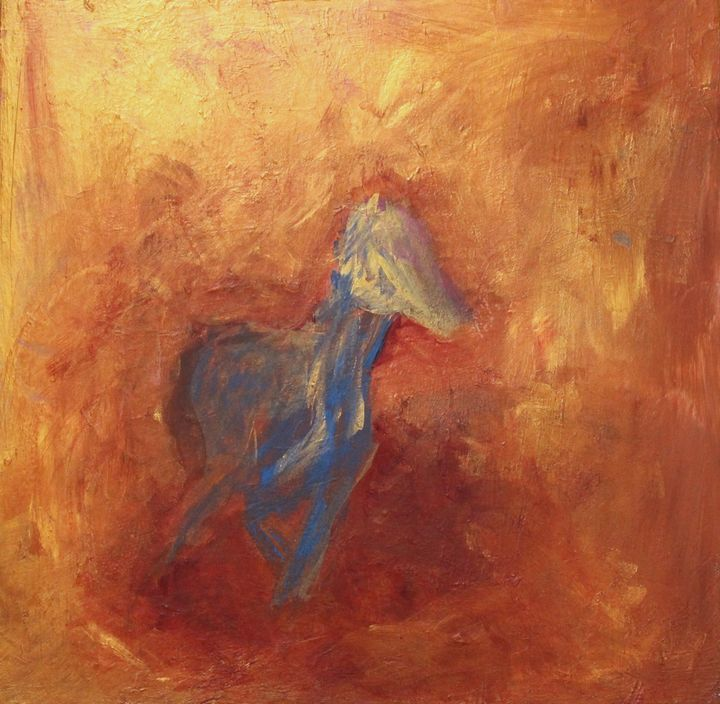 Unlimited Freedom| Abstract Horse Pa - NATURE OF REALITY BY SHARON BUSHY