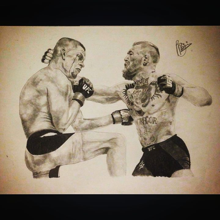UFC Conor vs Nate - Hoboartillustration
