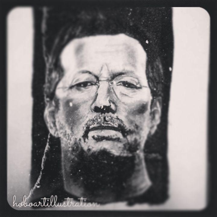 Eric Clapton - Hoboartillustration