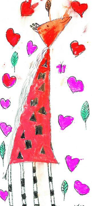 Loving Giraffe - Gracelyn Lavender Mulkey