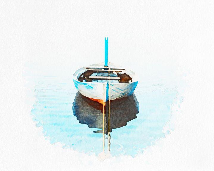 Maldiven White Boat - Angelo