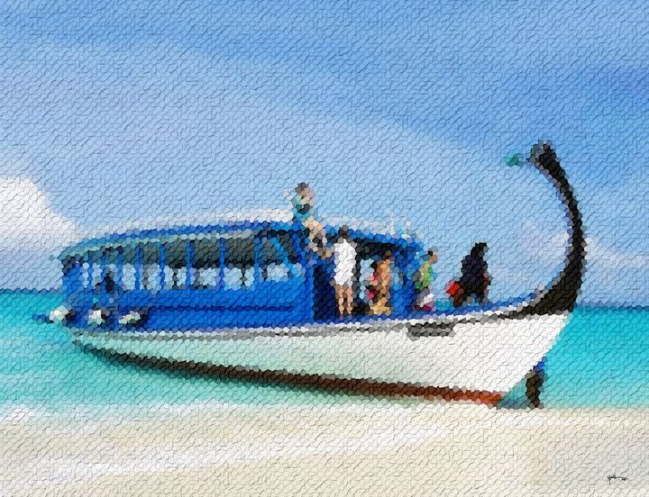 White-boat-maldives - Angelo