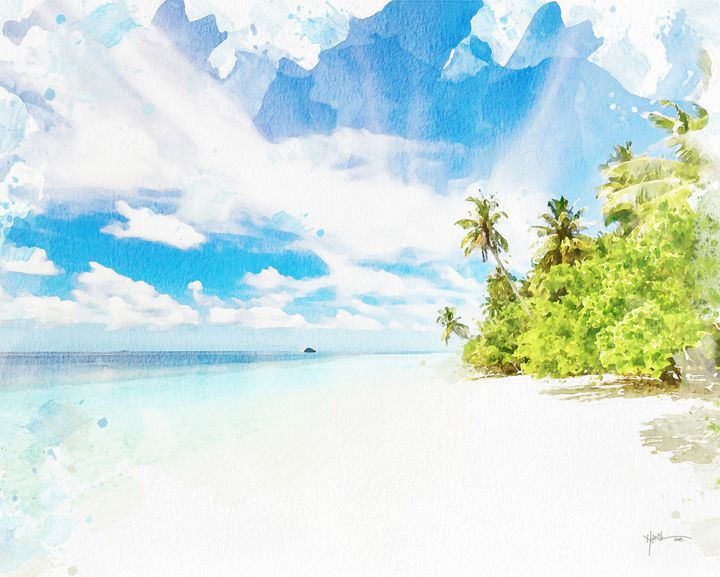 Maldives,sugar-fine sandy beach - Angelo