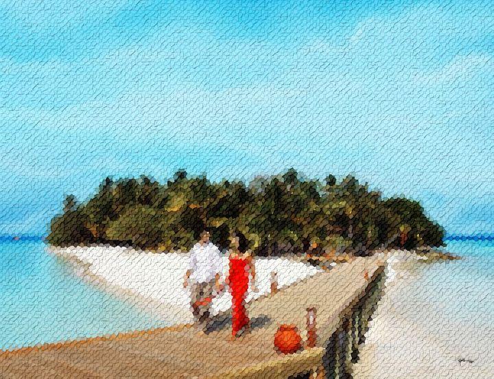 Looking-up-maldives - Angelo