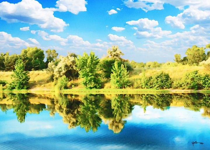 Blue sky lakes and woods - Angelo