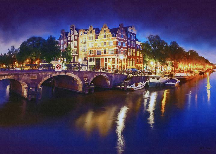 Amsterdam In Night - Angelo