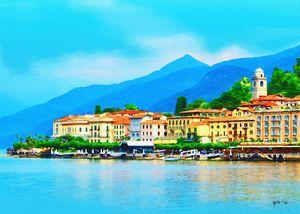 Italy-Bellagio Port