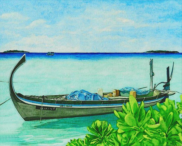 Maldivian fishing boat - Angelo