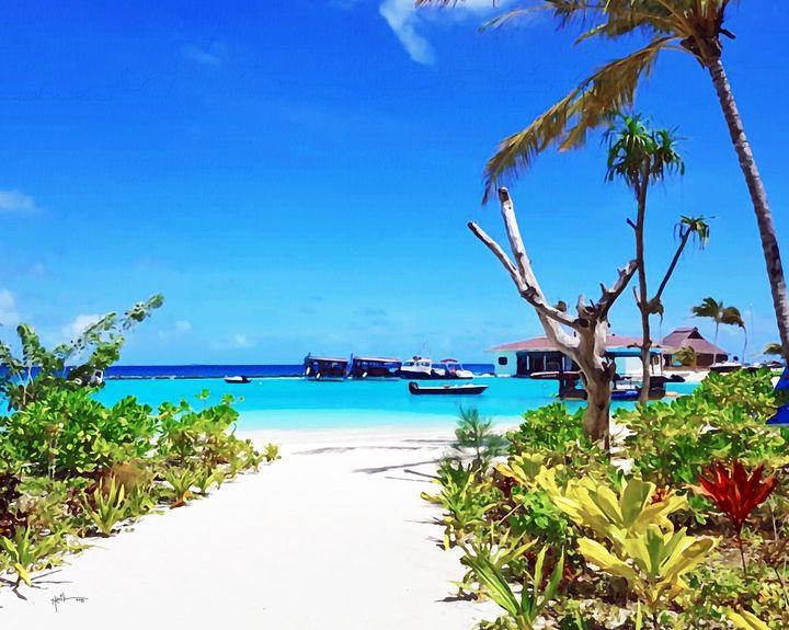 Maldives, Very White beach - Angelo