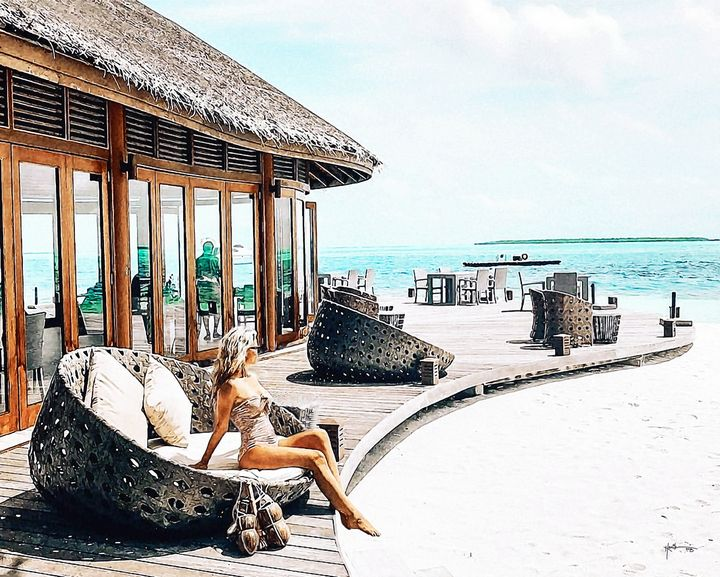 passed out on the sundeck,Maldives - Angelo