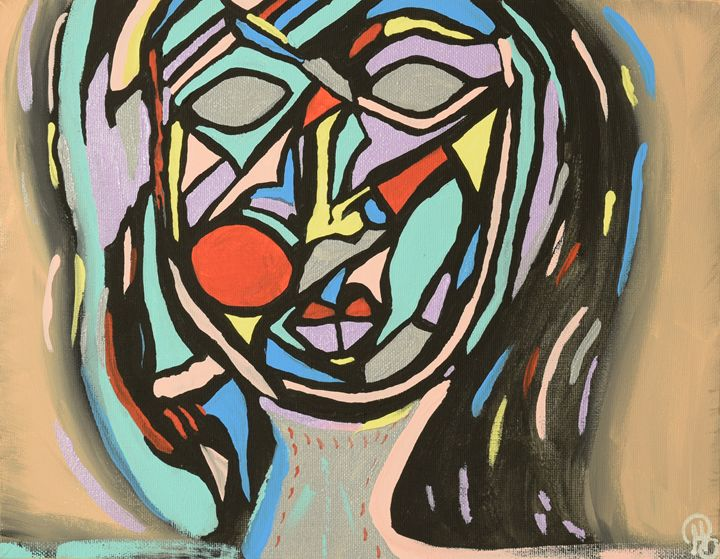 Cubism Face - Morgan Rhodes Abstract Art