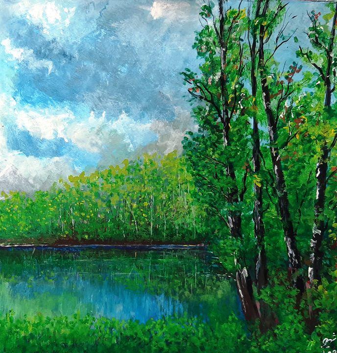Cloudy Spring - Shahriar Art
