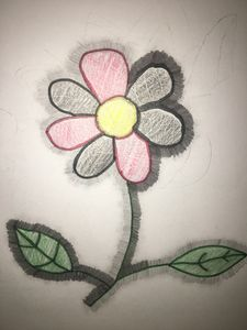 This Is ArtWork Of A Beautiful Flowe