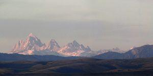 Tetons as seen from Idaho