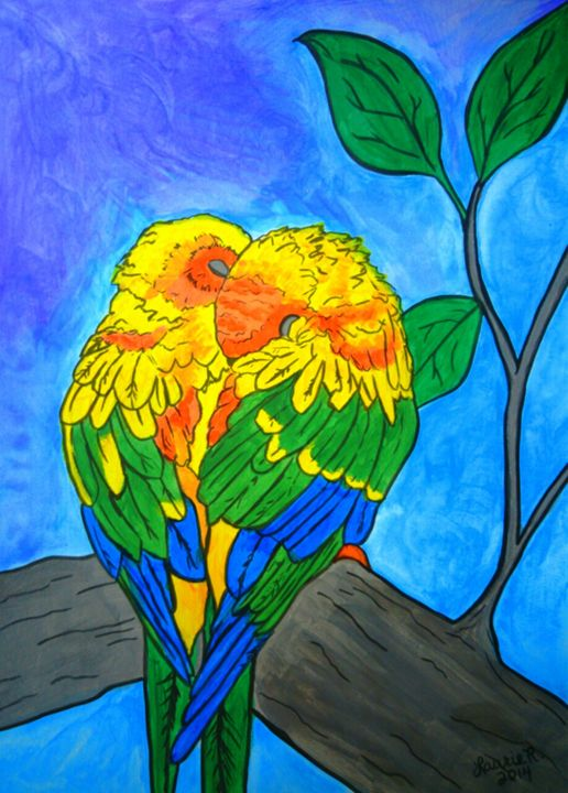 The Love Birds - Laurie R Creations