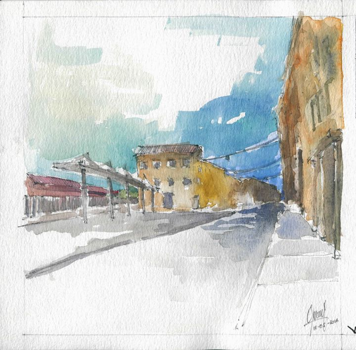 From the Train Station - My watercolours art works