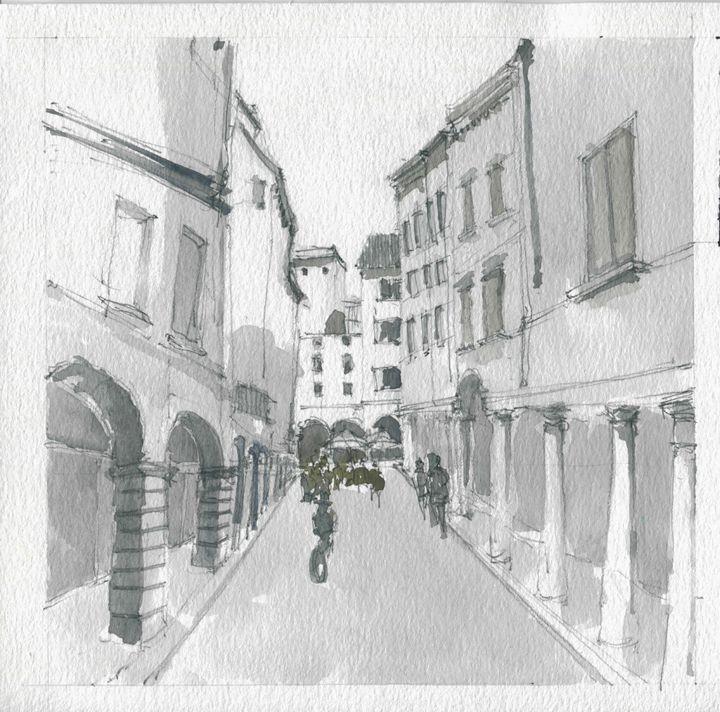 Via Giuseppe Verdi - My watercolours art works