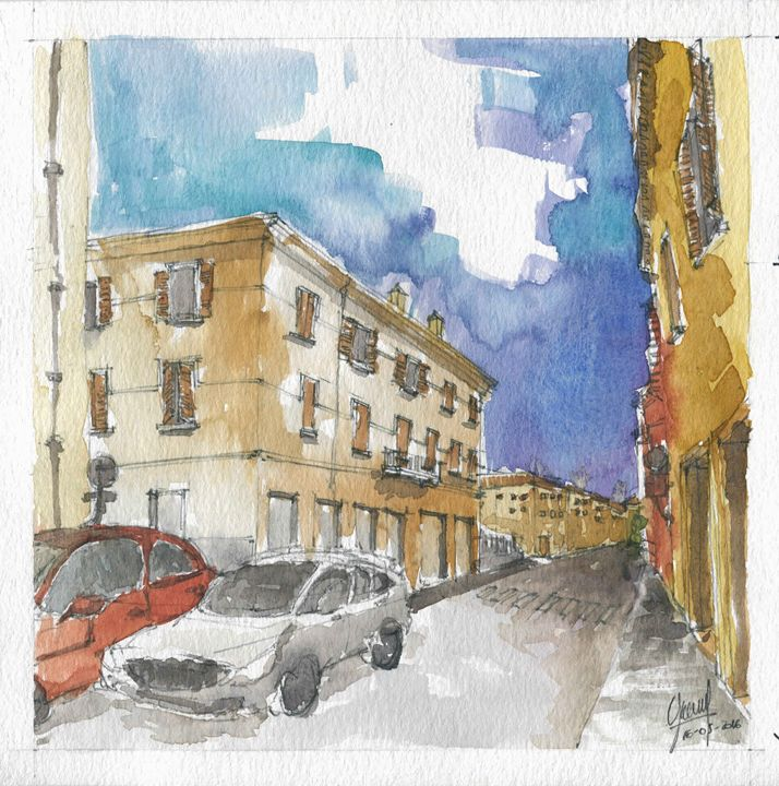 Via Solferino - My watercolours art works