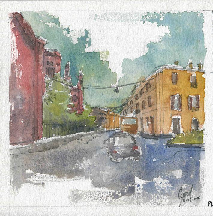 Piazza San Francesco - My watercolours art works