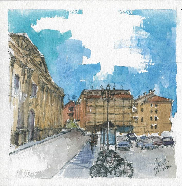 Piazza D'Arco - My watercolours art works