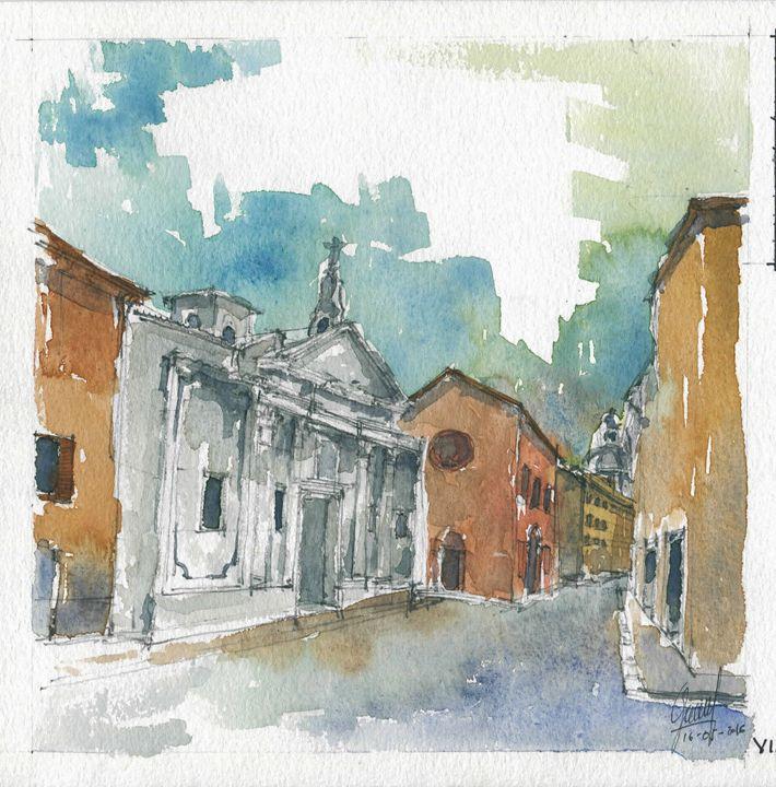 Via D. Fernelli, Mantova - My watercolours art works