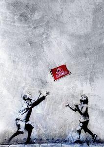 Banksy Art Poster No Ball Games