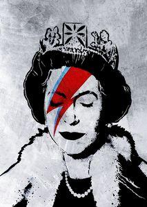 Banksy Art Poster Queen of England
