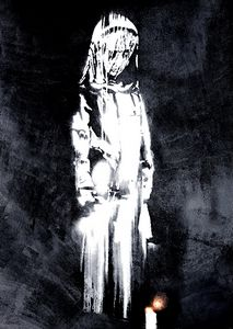 Banksy Art Poster Lady and Candle